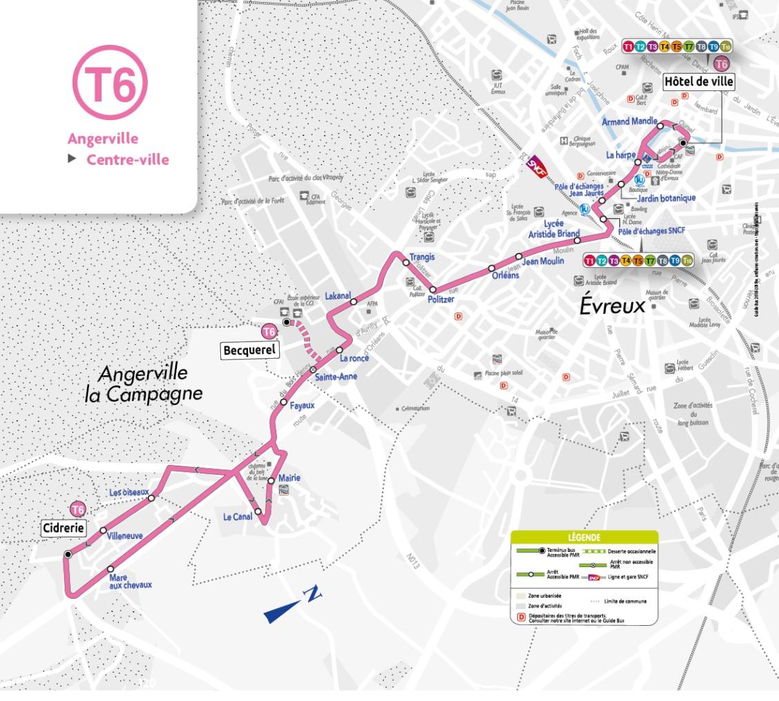 Transurbain (ligne T6) - Notre commune d Angerville la campagne dans ... 9619c91db7b1